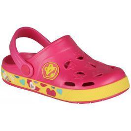 f92834925446 Detail tovaru · Coqui Dievčenské sandále Froggy - ružovo-žlté
