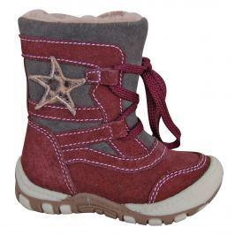 57dd44f864 Detail tovaru · Protetika Dievčenské zimné topánky s hviezdičkou Verona -  vínové