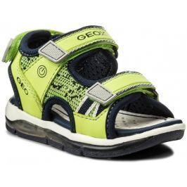 36db240c79f4 Recenzia Geox Chlapčenské svietiace sandále Todo - zeleno-žlté