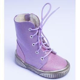 96995ac077 Recenzia První krůčky Dievčenské zimné topánky so zipsom - ružovo-fialové