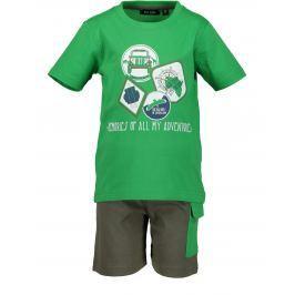 4983659aa54c Blue Seven Chlapčenský komplet trička a kraťasov - zelený