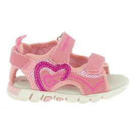 48a2157c77fb Detail tovaru · Canguro Dievčenské sandále so srdiečkom - ružové