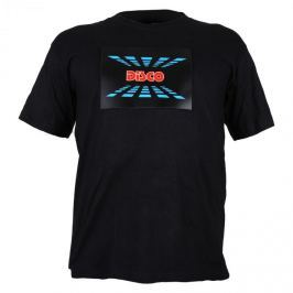 Summary Trojfarebné LED tričko, design Disco, veľkosť L