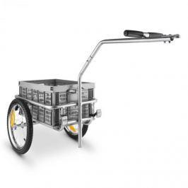 DURAMAXX BigBig Box, 40 l, 40 kg, príves na bicykel, ručný vozík, vysoké oje, sivý