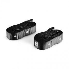 Capital Sports Addic, čierny, nylónový popruh, pás, 2 kusy, sada, karabínový hák, súťažný štandard