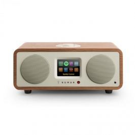 Numan One - 2.1 dizajnové internetové rádio, orech, 20 W, bluetooth, Spotify Connect, DAB+