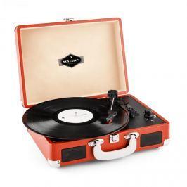 Auna Peggy Sue, červený, retro gramofón, vinyl LP, USB, line out