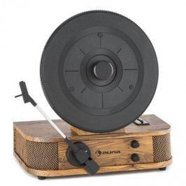 Auna Verticalo S, gramofón s retro dizajnom, vertikálny gramofónový tanier, USB, MP3, linkový výstup