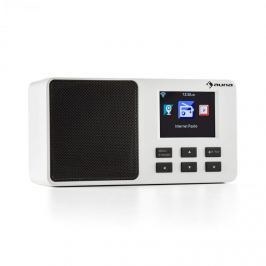 "Auna IR-110, biele, internetové rádio, 2,4"" TFT farebný displej, akumulátor, W-LAN, USB"