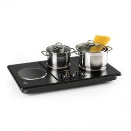 Klarstein Potzblitz, trojplatnička, varič, varná doska, 3300 W, nerezová oceľ, čierna