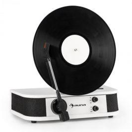 Auna Verticalo S, retro gramofón, vertikálny platňový tanier, USB, biely