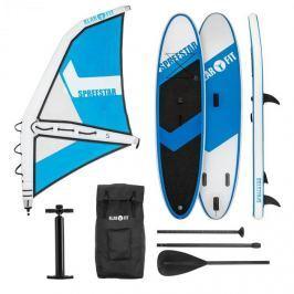 Klarfit Spreestar WS, nafukovací paddleboard, SUP-Board-Set, 300x10x71, modro-biela farba