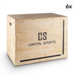 """Capital Sports Shineater BL, set plyoboxov, boxy na skákanie, 3 výšky 20"""", 24"""", 30"""", drevo"""