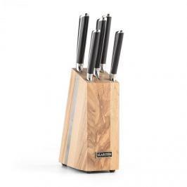 Klarstein Katana 6, sada nožov, 6-dielna, masívne drevo - nožový blok, 3Cr13 ušľachtilá oceľ