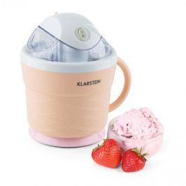 Klarstein IceIceBaby, krémovo oranžová, zariadenie na výrobu zmrzliny, 0,75 l, držadlo, 7,3-9,5 W