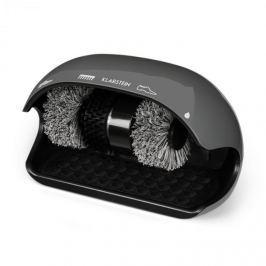 Klarstein ShoeButler čistič obuvi, 120W, 3 kefy, sivá farba