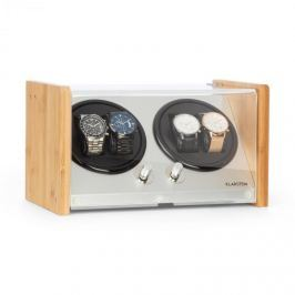Klarstein Hanoi 4, naťahovač hodiniek, 4 kusy hodiniek, 3 rýchlosti, 4 režimy, bambus