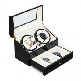 Klarstein Geneva, pohyblivý stojan na hodinky, 4 hodiniek, 4 režimy, zásuvka, čierny