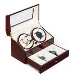 Klarstein Geneva, pohyblivý stojan na hodinky, 4 hodiniek, 4 režimy, zásuvka, palisandrový vzhľad