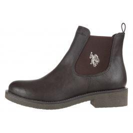 U.S. Polo Assn Simonett Členková obuv Hnedá