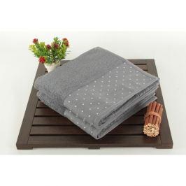 Sada 2 sivých bavlnených uterákov Patricia Grey, 50×90 cm