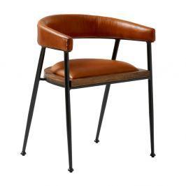 87af7d6d7c4a Detail tovaru · Koňakovohnedá kožená jedálenská stolička Fuhrhome London