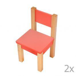 69168bcd8017 Detail tovaru · Sada 2 červených detských stoličiek Mobi furniture Mario