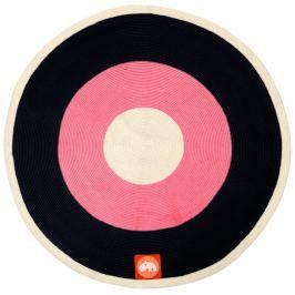 Ružovo-čierny koberec Done by Deer, ⌀113cm
