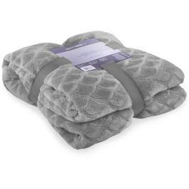 Sivá deka z mikrovlákna DecoKing Sardi, 220 x 240 cm
