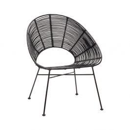 157d76d7b5d2 Detail tovaru · Čierna ratanová stolička Hübsch Aslog