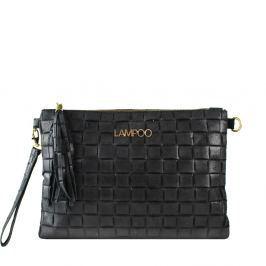9a56a53ef5 Čierna kožená listová kabelka Lampoo Duria