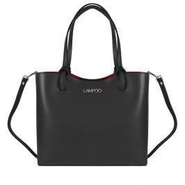 de93cb5217 Recenzia Čierna kožená kabelka Lisa Minardi Magnata