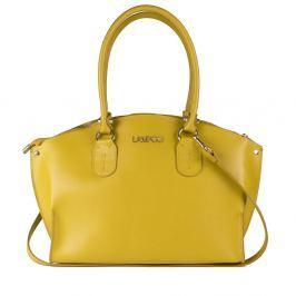 9884d765f7 Recenzia Žltá kožená kabelka Lampoo Sammo