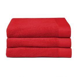 Sada 3 červených uterákov Seahorse Pure, 60×110cm