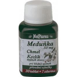 MedPharma Medovka 50 mg + Chmeľ + Valeriana 37 tbl